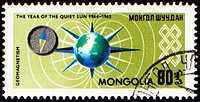 Geomagnetism exploration on post stamp