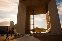 Le Grande Arche in La Defense, the main bussines district in Paris, France