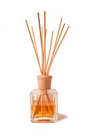 Isolated jar with perfumed incense sticks