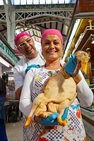poultry store  Central Market  Valencia  Comunidad Valenciana  Spain