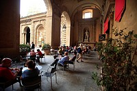 Italy, Tuscany, Florence, Pitti Palace,the court, cafè