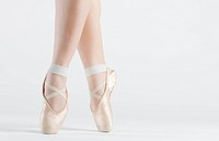 detail of ballet dancer&039,s feet