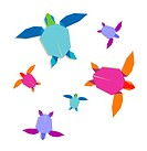 Multicolored origami turtle group
