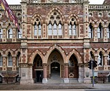 RAMM, The Royal Albert Memorial Museum, Exeter, United Kingdom. Architect: Allies and Morrison, 2012. Front elevation of entrance on Queen Street.