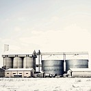 Industrial plant in winter