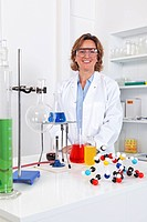 Female lab technician in a laboratory