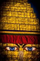 Bodhnath Stupa, Buddha´s eyes
