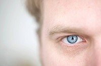 Blue eye of a man