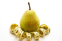 Pear with measuring tape