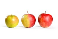 Three Apples From Green to Red