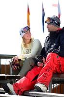 Couple ready to go skiing