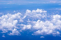 aerial view of clouds from above