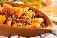 Pumpkin, Tomato, Mincemeat Dish