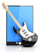 A Tablet PC / Pad  3D rendered illustration  Isolated on white