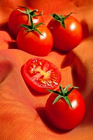 Tomatoes with warm background