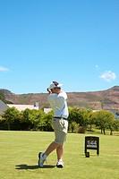 Golfer on the fairway