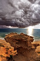 A thundercloud above Mediterranean sea