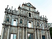 facade of St Paul&039,s, Ruins of St Paul&039,s, Macau