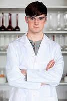 Portrait of a male scientist posing