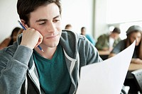 College students writing an exam (thumbnail)