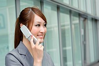 Business woman using cellphone