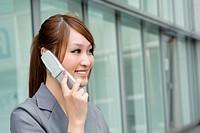 Business woman using cellphone