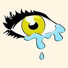 Cartoon eye crying
