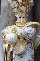 People with mask and fancy dress in carnival  Venice, Italy