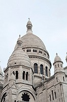 Paris, France, Sacre Coeur Basilica, Architectural Detail, Church Monument, in Montmartre District