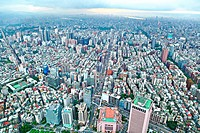 Taipei city view from high