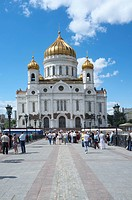 Cathedral of Christ the Saviour, Moscow, Russia, Eurasia