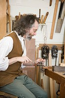Cabinet maker´s workshop in Colonial Williamsburg, Virginia.