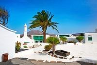 Lanzarote san Bartolome monumento Campesino in Canary islands
