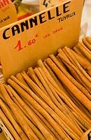 cinnamon, street market in Castellane, Provence, France