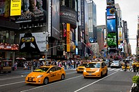 Yellow cabs, Times Square, Manhattan, New York, USA
