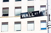 Wall Street Sign, , New York City, USA