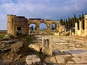 Domitian Gate, Hierapolis, Pamukkale, Turkey