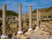 Columns and temple ruins, ancient city of Perga, Turkey