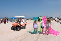 All terrain vehicle driving on Daytona Beach, Florida, USA