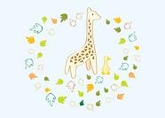 Giraffe &amp, duck