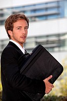 Young executive with a briefcase