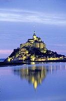 Mont-Saint-Michel bay, Manche department, Normandy region, France, Europe