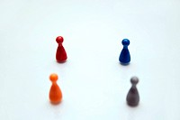 Concept of a multi_colored crowd