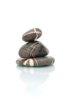 .zen stones with reflection isolated