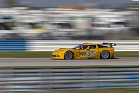 Chevrolet Corvette C6_R race car competing in the 53rd Annual 12 Hours Of Sebring sports car race at Sebring International Raceway, Sebring, Florida