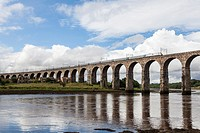 Royal Border Bridge, Berwick-upon-Tweed, designed by Robert Stevenson, England, UK