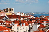Lisbon cityscape with Sé Cathedral