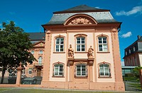 Deutschhaus Mainz 1740 Baroque style palace now the state Landtag the parliamentary building Mainz city state of Rhineland-Palatinate Germany Europe