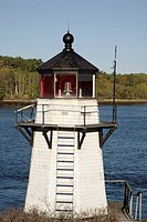 Squirrel Point Light _. Located on Arrowsic Island in Arrowsic, Maine, which is on the New England seacoast. Notes: This light is located on the Kenne...
