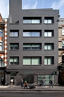 7_8 Rathbone Place, London, United Kingdom. Architect: Sergison Bates Architects LLP, 2012. Front elevation.
